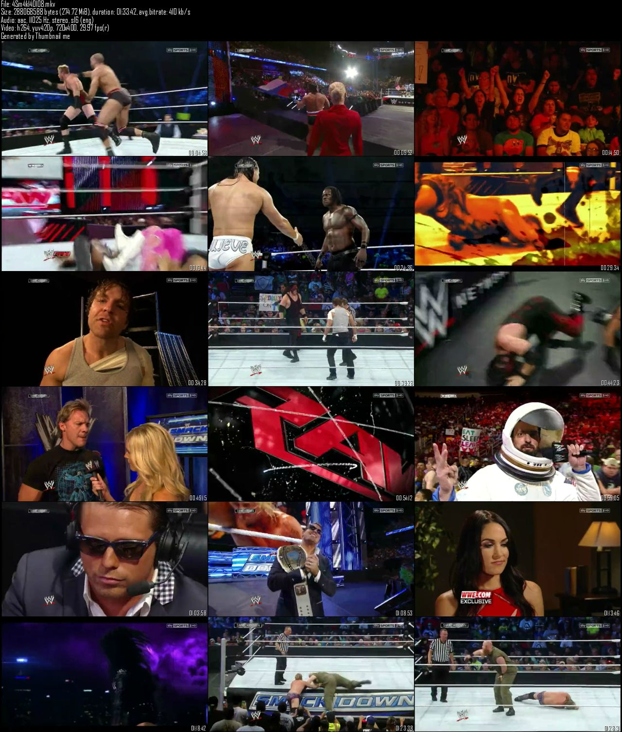 WWE Friday Night SmackDown 1st August (2014)
