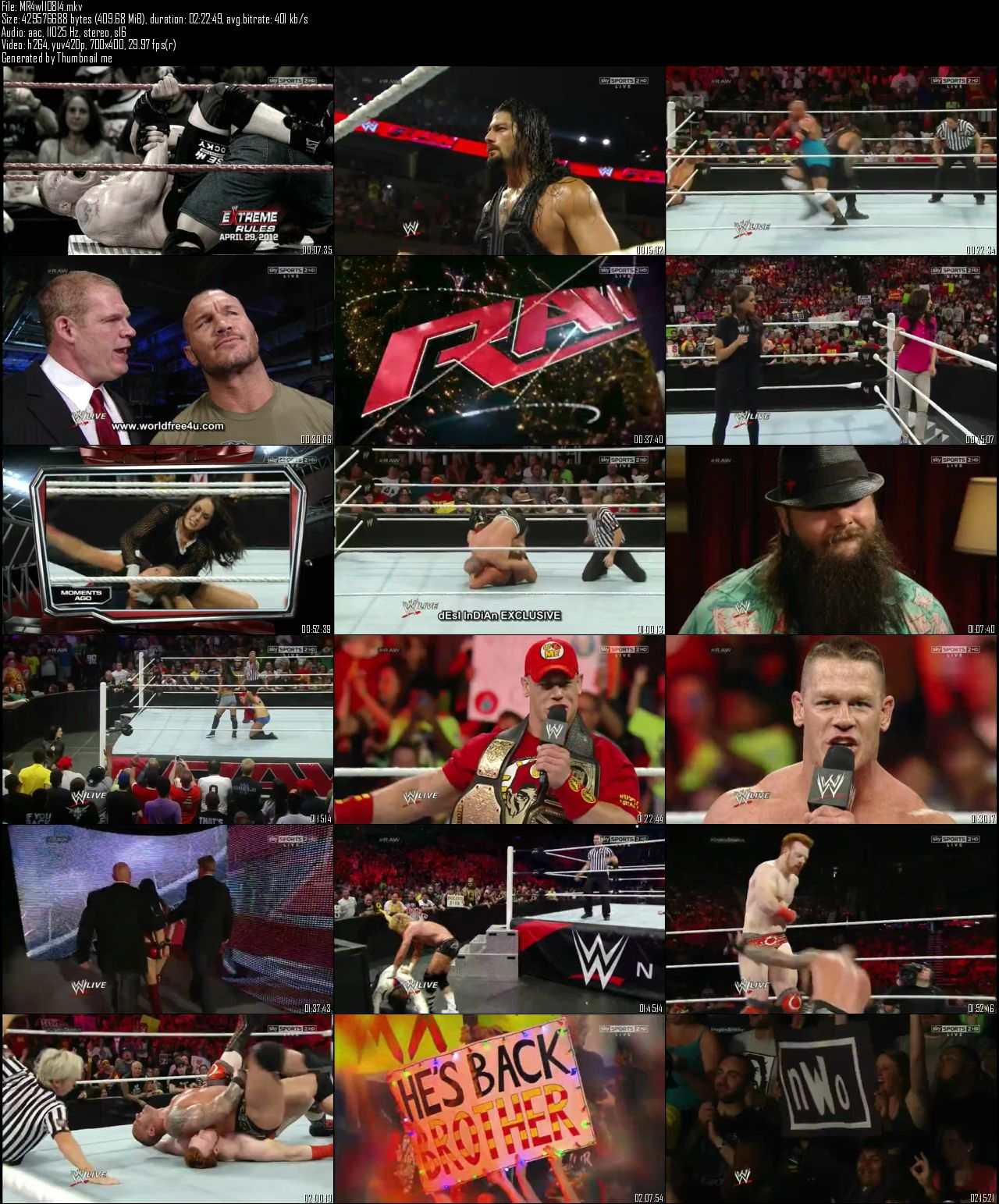 WWE Monday Night Raw 11th August (2014)