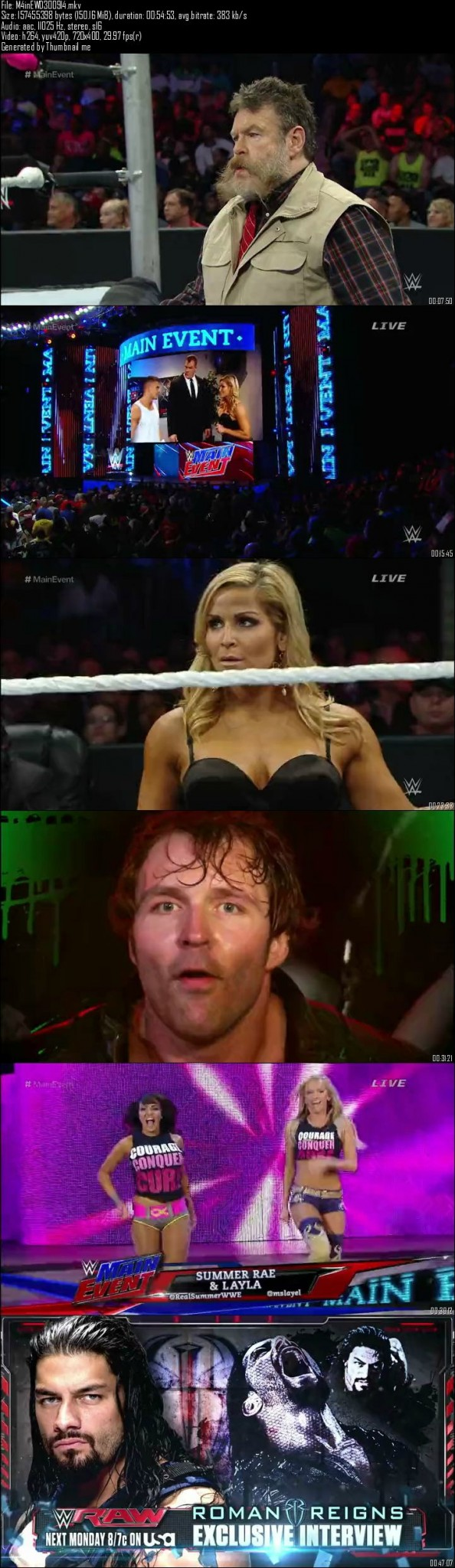 WWE Main Event 30th September (2014)